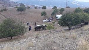 Amasya'da devrilen kamyonetin sürücüsü öldü