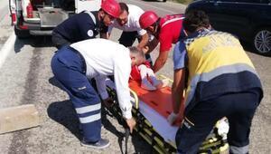 Otomobil takla attı: Aynı aileden 5 kişi yaralandıı