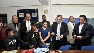 Kaymakam Ziya Polat ve Başkan Akgül okulları ziyaret ediyor