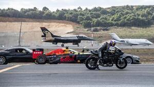 İşte F-16 ile Kenan Sofuoğlu yarışının galibi...