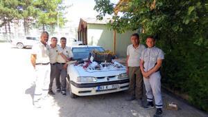 Sultan Sazlığında kaçak şahin avına 2 gözaltı