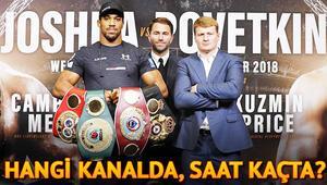 Anthony Joshua Povetkin boks maçı bu akşam hangi kanalda saat kaçta canlı olarak yayınlanacak