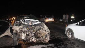 Birecikte otomobiller çarpıştı: 6 yaralı