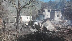 Kastamonuda 9 ev ve 6 ahırın yandığı köyde hasar tespiti