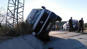 Mersinde cenaze dönüşü kaza: 1 ölü, 6 yaralı