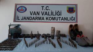 Vanda terör örgütü PKKya ait mühimmat ele geçirildi