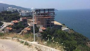 Mudanya Yıldıztepe'deki otel inşaatı belediye tarafından mühürlendi