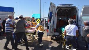 Kayseride otomobil ile kamyon çarpıştı: 1 ölü, 5 yaralı