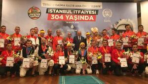 İBB Başkanı Mevlüt Uysal başarılı itfaiyecileri ödüllendirdi