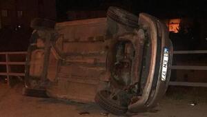 Otomobille motosiklet çarpıştı: 1 ölü 1 yaralı