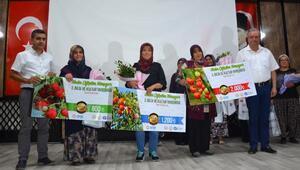 Korkutelide kadın çiftçiler yarıştı