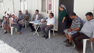 CHPli Erbaydan geçen yıl evleri yanan Zeytinköylülere ziyaret