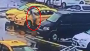 Taksicilerin silahlı kavgası saniye saniye görüntülendi