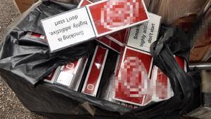 Bagajından kaçak sigara çıkan yolcuya 32 bin lira ceza