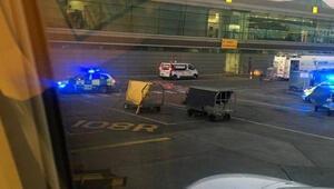Kaçırdığı uçağın arkasından koşan yolcu gözaltına alındı