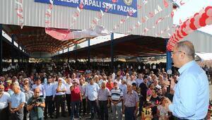 Akıncılar Kapalı Semt Pazarı açıldı