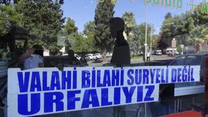 Şanlıurfa'da, Suriyeli gerginliğine esnaftan ilginç çözüm