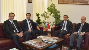Çorlulu iş insanları, Filibe Başkonsolosu Erganiyi ziyaret etti
