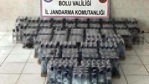 Boluda 745 şişe kaçak içki ele geçirildi