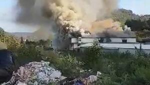 Sürmenede fabrika yangını (1)