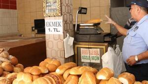 Mersin'de zabıtadan ekmek için fiyat-etiket denetimi