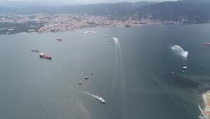 İzmit Körfezinde 2 bakanlı deniz kirliliğine müdahale tatbikatı (2)