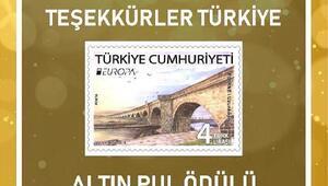 Altın Pul ödülü, Uzunköprü fotoğraflı pulla Türkiyenin