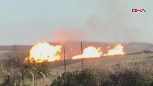 Silivride doğal gaz boru hattında patlama