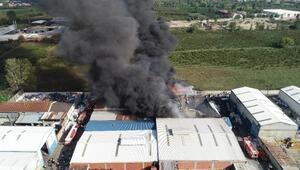 Bursada plastik geri dönüşüm tesisinde yangın