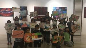 Çocukların hayal dünyası ünlü ressam Kandinskynin eserleriyle buluştu