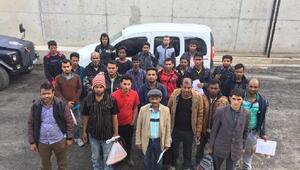 Vanda 58 kaçak göçmen yakalandı