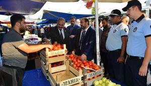 Belediye Başkanı Edebali, pazar denetiminde