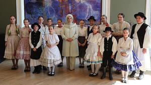 Emine Erdoğandan Macar Kültür Evine ziyaret