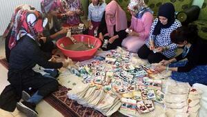 Midyatlı kadınlar, lavanta kesesi üretip satıyor