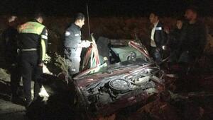 Yola çıkan ata çarpan otomobilin sürücüsü yaralandı