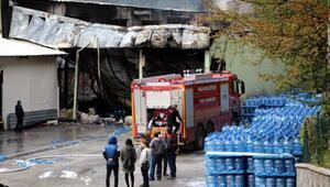 Boluda su dolum fabrikası alev alev yandı (2)