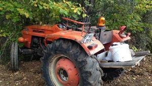 Traktör ağaca çarptı: 1ölü, 1 yaralı