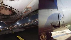 Hindistanda yolcu uçağı kalkış sırasında havalimanının duvarını yıktı