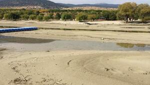 Eğirdir Gölünün su seviyesindeki azalma endişelendirdi