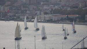 The Bodrum Cupın kortej geçişi dün İstanbul Boğazında yapıldı