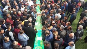 Kazada ölen 4 kişi toprağa verildi