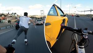 15 Temmuz Şehitler Köprüsü'nde yarışan gençler yakalandı