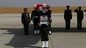 Kazada şehit olan Onbaşı Özyolcinin cenazesi, memleketine uğurlandı (2)