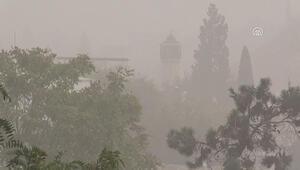 Toz bulutu Gaziantep ve Şanlıurfada yaşamı olumsuz etkiliyor
