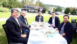 Beşiktaşta idman sonrası barbekü partisi