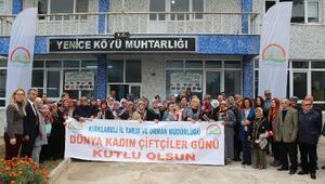 Pınarhisarda dünya kadın çiftçiler günü kutlandı