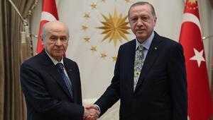 Son dakika... Erdoğan ve Bahçeli görüştü