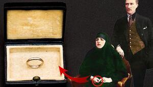 Atanın alyansı... İşte Atatürk'ün  Latife Hanım'a taktığı nikâh yüzüğü