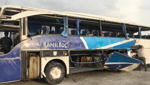 Kahramanmaraşta yolcu otobüsü devrildi: 7 ölü, 24 yaralı/Ek fotoğraflar
