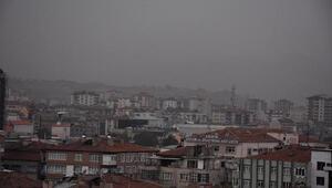 Kayseride toz bulutu etkili oldu